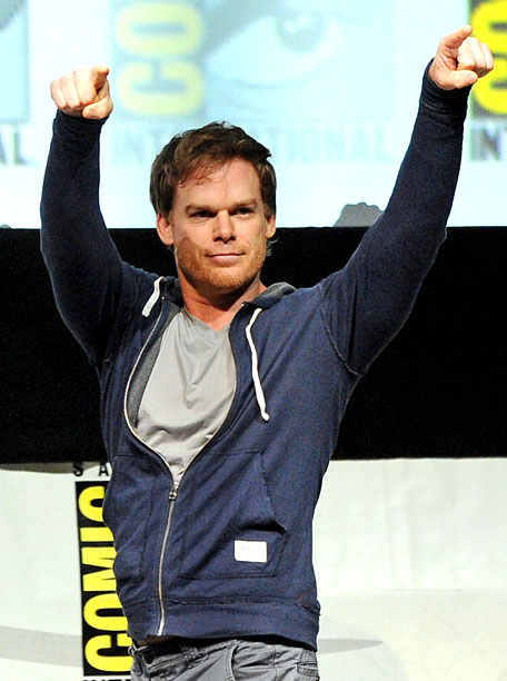 San Diego Comic-Con 2013, Dexter, ... | Michael C. Hall shows some love to the Dexter panel crowd