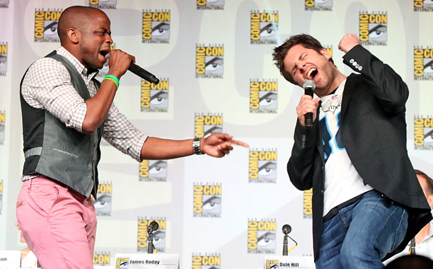 San Diego Comic-Con 2013, Psych, ... | Dule Hill and co-star James Roday shout it out at USA Network's Psych panel