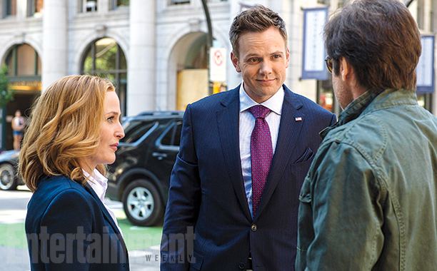 Gillian Anderson, Joel McCale, and David Duchovny