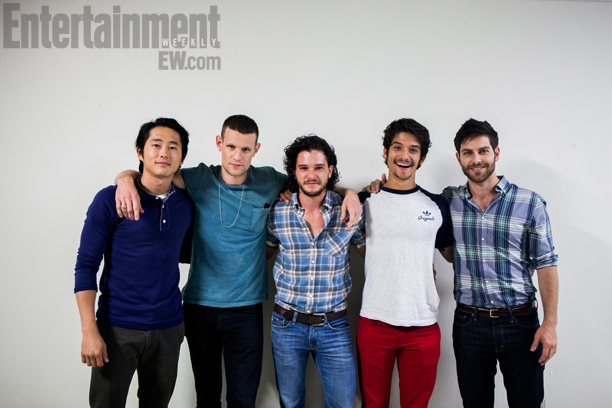 San Diego Comic-Con 2013, Kit Harington, ... | Entertainment Weekly 's Brave New Warriors Panel: Steven Yeun ( The Walking Dead ), Matt Smith ( Doctor Who ), Kit Harington ( Game of…
