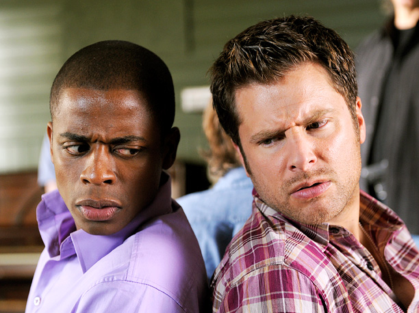 Dule Hill, James Roday, ... | What would you do if your best friend pretended to be a psychic detective? Would you jeopardize your own job and (however reluctantly) set up…