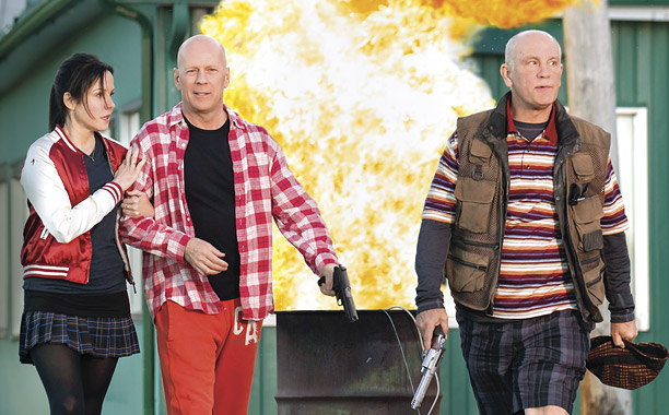 Movie Guide, Bruce Willis, ...   In this sequel to 2010's action-comedy, former black-ops agent Frank Moses (Bruce Willis) reassembles his team of gun-toting retirees to hunt for a weapon of…
