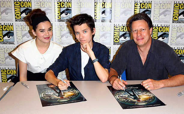 San Diego Comic-Con 2013, Ender's Game, ...   Hailee Steinfeld, Asa Butterfield, and director Gavin Hood at the Ender's Game press conference