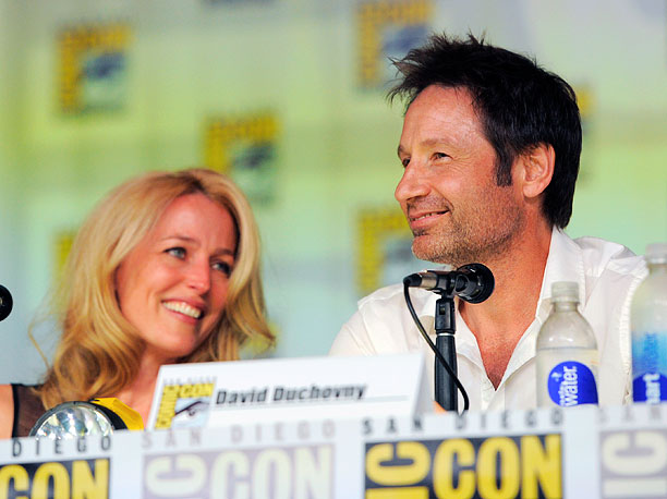 San Diego Comic-Con 2013, The X-Files, ... | Gillian Anderson and David Duchovny at the X-Files 20th Anniversary panel