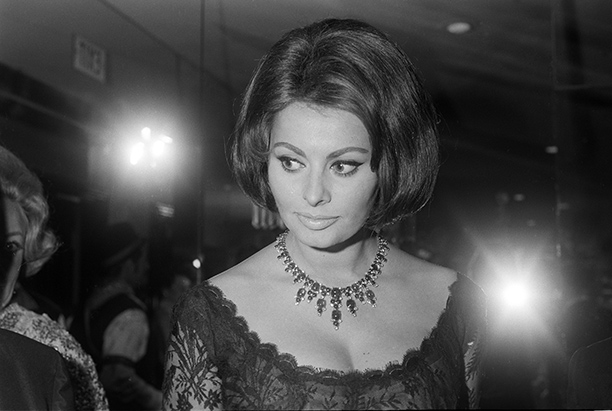 Sophia Loren at Boccaccio 70 Party, July 1962
