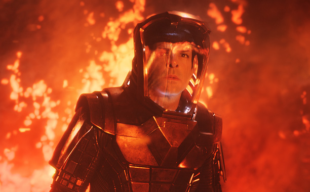 Movie Guide, Zachary Quinto, ...   As the title suggests, Star Trek Into Darkness brings the crew of the USS Enterprise into some grim space. ''They are tested, and the tests…