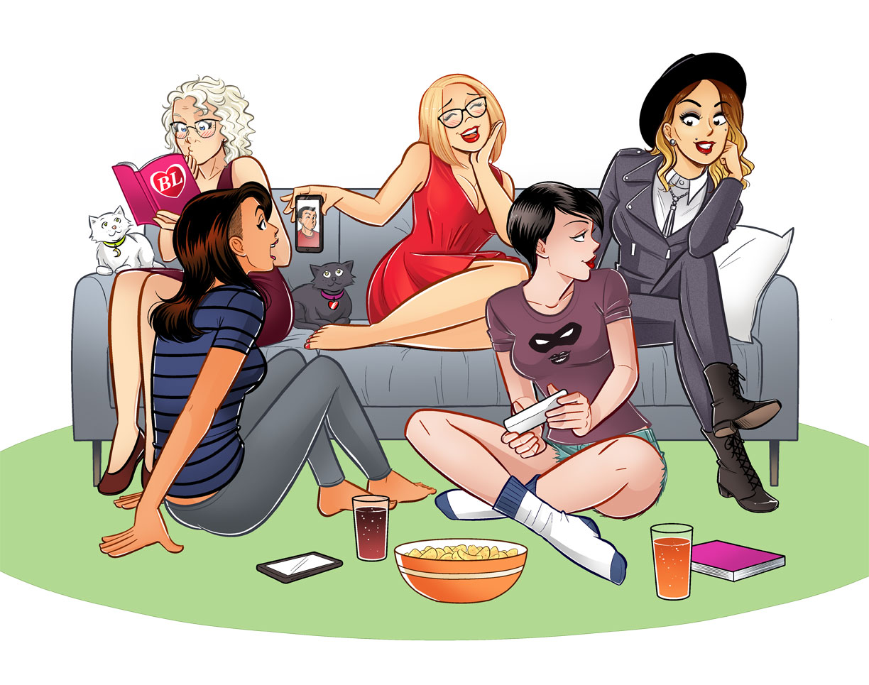 Featured in the photo: Margaret Atwood, Soha Kareem, Hope Nicholson, Kat Curtis and Twiggy Tallant