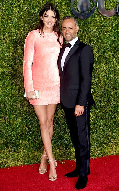 Kendall Jenner and fashion designer Francisco Costa