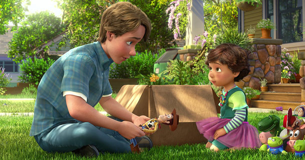 Toy Story 3 | This scene still gets me just thinking about it. In a shrewd last-minute decision, Woody writes the address of Bonnie — a young neighborhood girl…