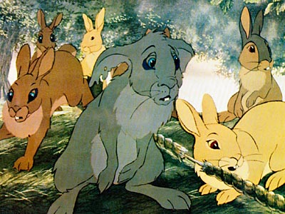 Watership Down | A whole gaggle of rabbits, escaping their doomed warren, scampering across the English countryside looking for a new home? It's like Battlestar Galactica , but…