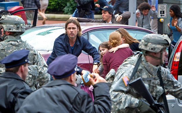 Movie Guide, Brad Pitt, ...   A six-year odyssey, Brad Pitt's $170 million World War Z runs in a different direction from AMC's The Walking Dead . It's closer to Danny…