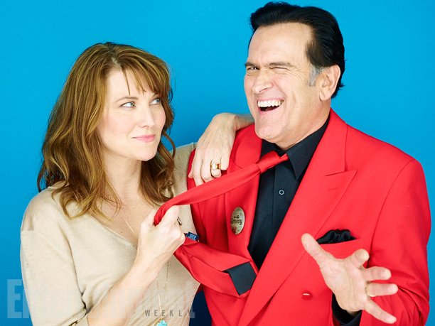 Lucy Lawless and Bruce Campbell, 'Ash vs. Evil Dead'