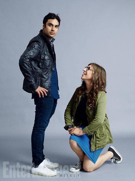 Kunal Nayyar and Mayim Bialik, 'The Big Bang Theory'