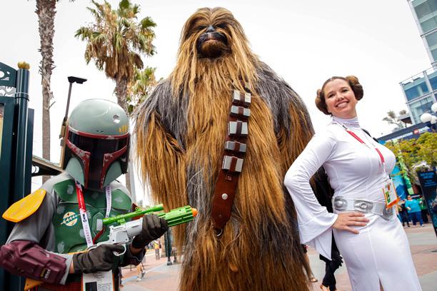 Boba Fett, Chewbacca, and Princess Leia