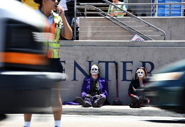 The Joker takes a break