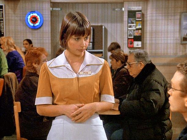 "Constance Zimmer as ""Waitress #2"": Season 9, episode 15, ""The Wizard"""