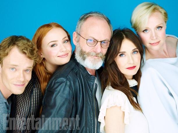 Alfie Allen, Sophie Turner, Liam Cunningham, Carice Van Houten, Gwendoline Christie, 'Game of Thrones'