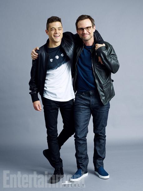 Rami Malek and Christian Slater, 'Mr. Robot'
