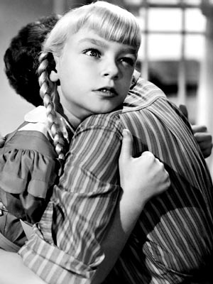 Patty McCormack, The Bad Seed | CHILD'S PLAY Rhoda efficiently dispatches anyone who keeps her from getting her own way. Nervous Mom (Nancy Kelly) senses that something in her own life…