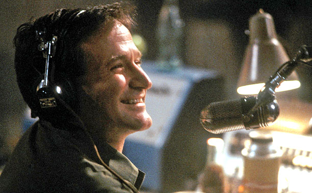 Williams' golden period began with this loose biopic of Vietnam DJ Adrian Cronauer. Most of the broadcast scenes—replete with raucously tangential jokes-within-jokes and Rod Serling…