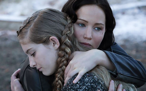 STOP, DROP, AND ROLL Jennifer Lawrence returns as Katniss to once again fight in The Hunger Games