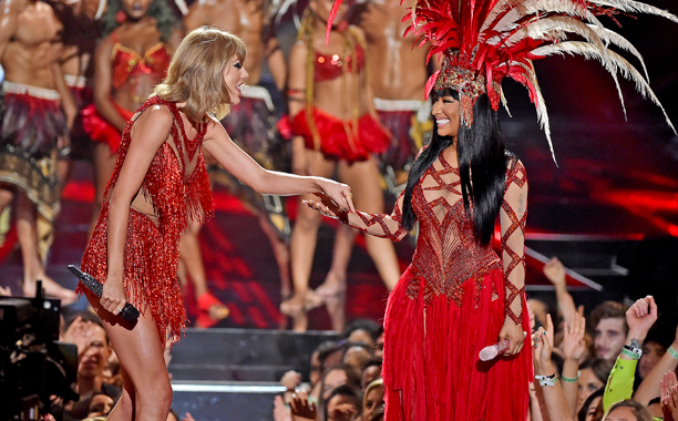 """Nicki Minaj and Taylor Swift, """"The Night Is Still Young"""" and """"Bad Blood"""""""