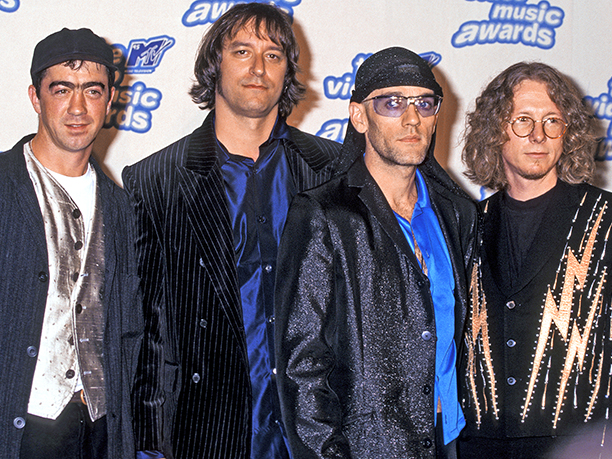 Bill Berry, Peter Buck, Michael Stipe and Mike Mills of R.E.M.