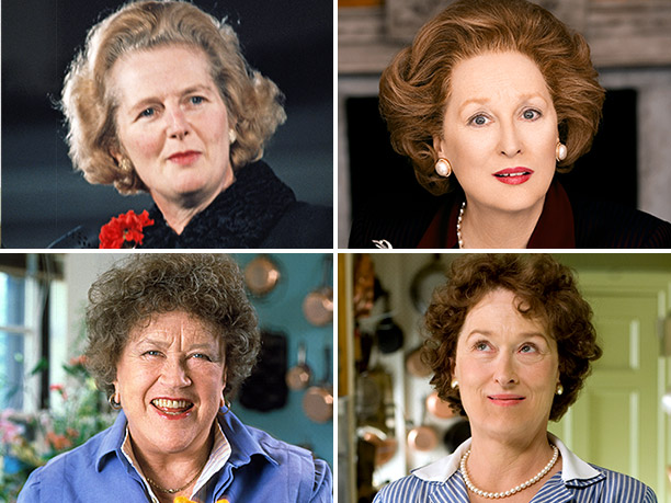 Specifically Margaret Thatcher in The Iron Lady and Julia Child in Julie & Julia . That said, we still have one role in mind for…
