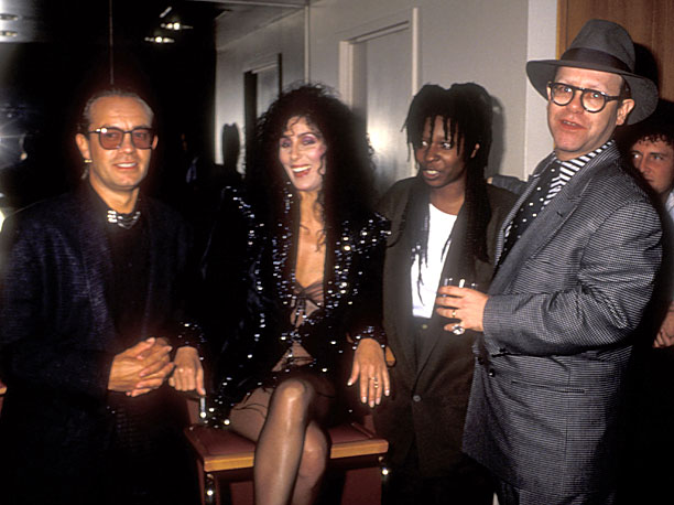 Bernie Taupin, Cher, Whoopi Goldberg, and Elton John were quite a squad in 1987.