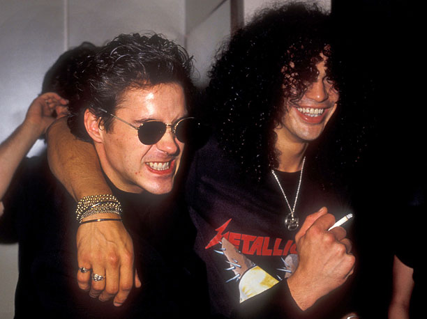 More hair, more friendship: Robert Downey Jr. and Slash rocked the 1988 VMAs.