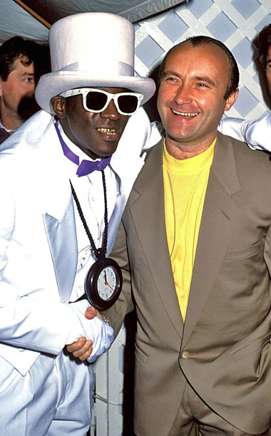 Flavor Flav and Phil Collins were BFFs for one night in 1990.