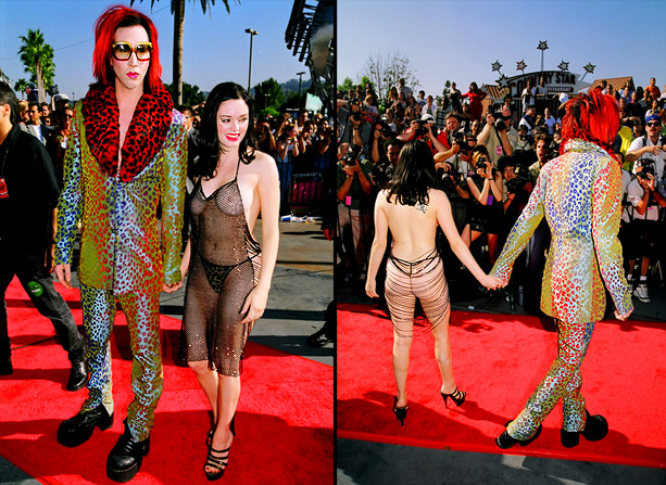 MTV Video Music Awards | Chains, mesh, and Marilyn Manson... oh my! At the 1998 ceremony, Rose McGowan managed to outdo the shock rocker in this barely-there ensemble. ''I wore…