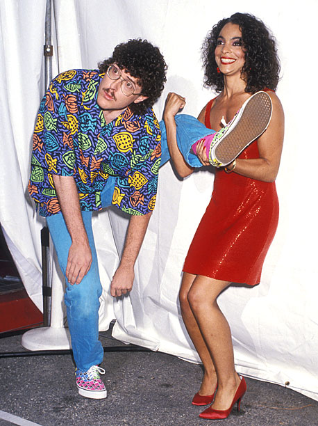 Weird Al Yankovic and Jasmine Guy goofed around in 1989.