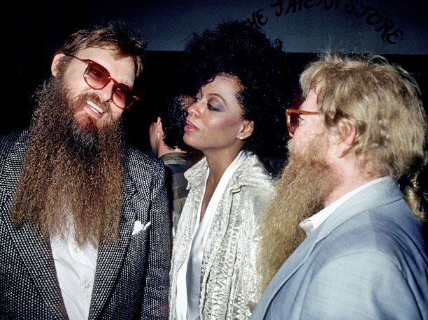 Diana Ross and ZZ Top enjoy 1984's after-party.
