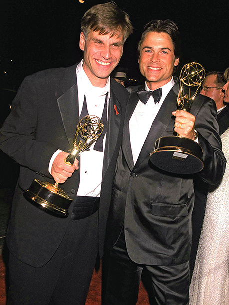 Aaron Sorkin and Rob Lowe celebrated The West Wing winning Outstanding Drama Series