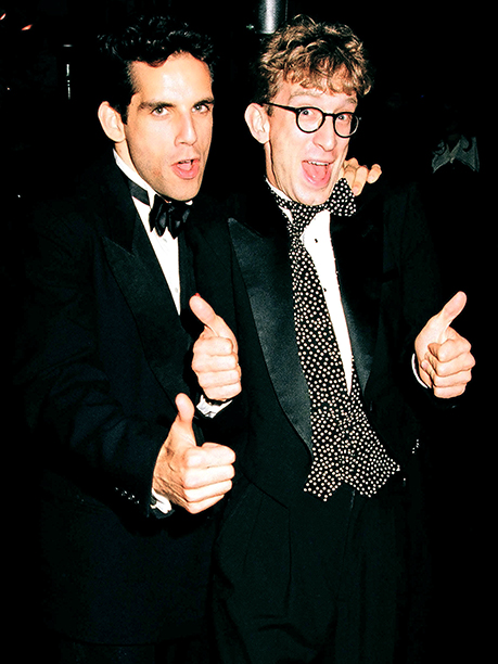 Ben Stiller and Andy Dick broed out during the 1993 Emmys