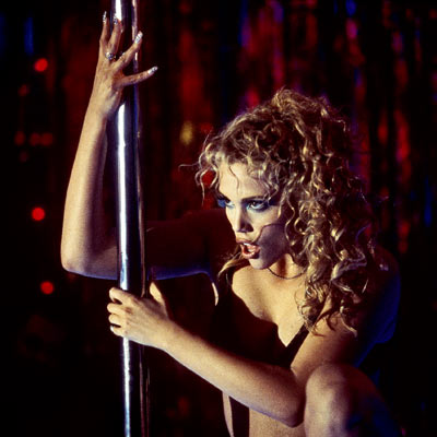 Showgirls, Elizabeth Berkley | Showgirls (1995) Nomi doesn't just twirl on the pole — she licks it, humps it, and gets it pregnant. (Okay, that last thing didn't happen,…