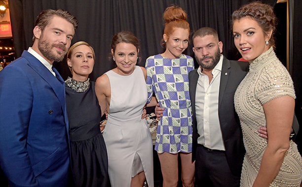 Charlie Weber, Liza Weil, Katie Lowes, Darby Stanchfield, Guillermo Diaz, and Bellamy Young