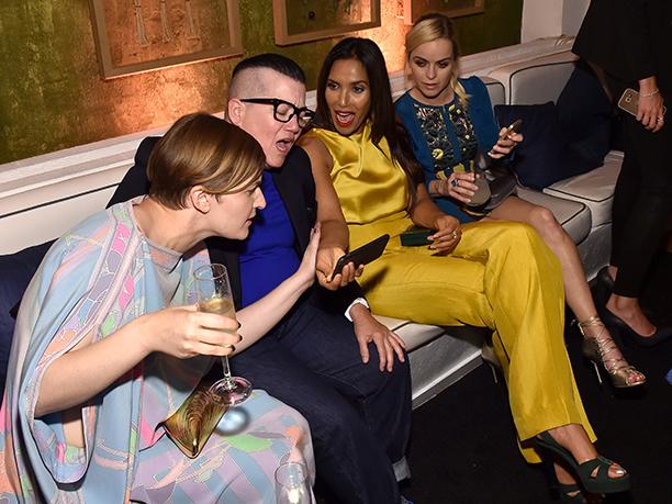 Chelsea Fairless, Lea DeLaria, Padma Lakshmi, and Taryn Manning