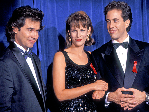 Dennis Miller, Jamie Lee Curtis, and Jerry Seinfeld kicked it at the 1991 Emmys