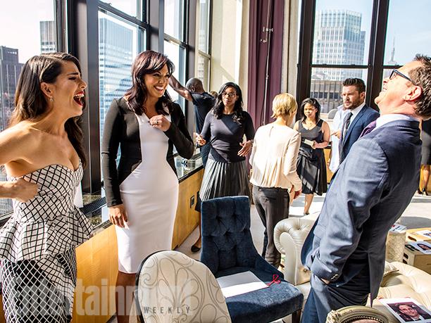 Karla Souza, Sara Ramirez, Charlie Weber, and Joshua Malina