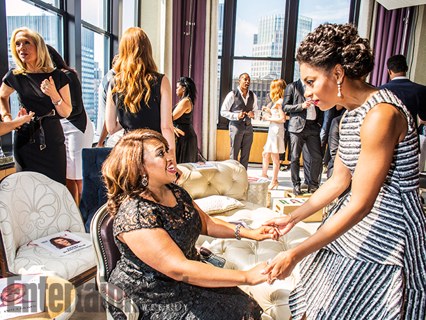 Betsy Beers, Chandra Wilson, and Kelly McCreary