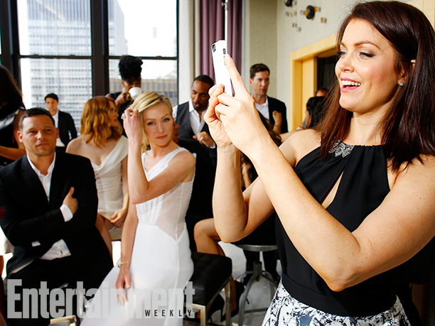Justin Chambers, Portia De Rossi, and Bellamy Young