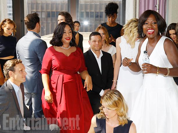 Tony Goldwyn, Shonda Rhimes, Justin Chambers, Ellen Pompeo, and Viola Davis