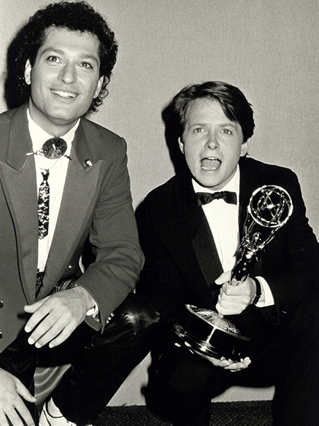 Howie Mandel and Michael J. Fox were '80s buds at the 38th Annual Primetime Emmy Awards