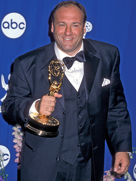 James Gandolfini with his Outstanding Lead Actor in a Drama Series Emmy for The Sopranos
