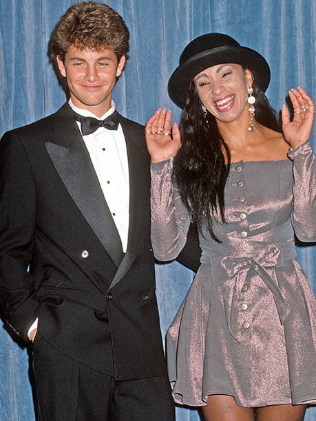 Kirk Cameron made a friend in Downtown Julie Brown at the 42nd Annual Emmys