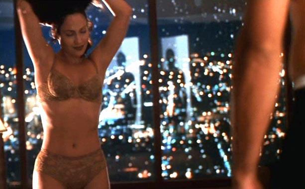 Jennifer Lopez, Out of Sight   Karen Sisco (Lopez) treats Jack Foley (George Clooney) to a hotel room strip tease in director Steven Soderbergh's big screen adaptation of Elmore Leonard's witty…