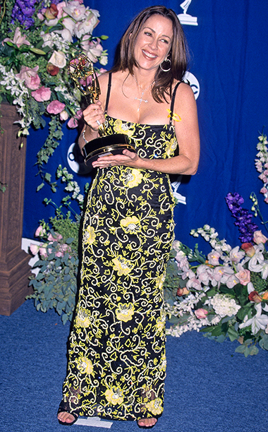 Patricia Heaton with her Outstanding Lead Actress in a Comedy Series Emmy for Everybody Loves Raymond