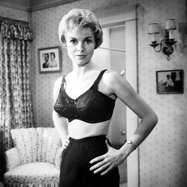 Janet Leigh, Psycho (Movie - 1960)   This 1960 Hitchcock thriller is credited with bringing a new level of sexuality—and violence—to the big screen. Early scenes show Leigh?s Marion Crane in her…